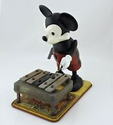 Walt Disney 1950and039s Musical Mickey Mouse Xylophone Marxs Toys Wind-up