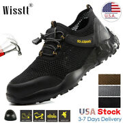 Mens Work Boots Safety Shoes Steel Toe Caps Lightweight Breathable Mesh Sneakers