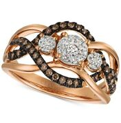 Le Vianchocolatier Diamond Ring 3/8 Ct. T.w. In 14k Rose Gold Size 7 On Sale