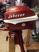 Vintage 1956 3 Hp Johnson Sea Horse Jw-12 Outboard Motor