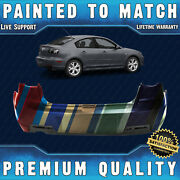 New Painted To Match Rear Bumper Cover For 2007 2008 2009 Mazda 3 Sedan 07 08 09