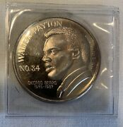 Limited Edition Walter Payton Nfl Rushing Leader 1 Troy Oz. Silver Round 12071