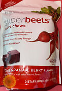 Super Beets Heart Chews Pomegranate Berry 60 Chews  Ship Free Same Day