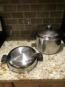 Amway Queen 18-8 Multi-ply S/s Cookware 6 Quart Stock Pot W/dome And Std Lid