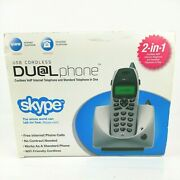 Voip Usb Cordless Dual Phone Skype Internet And Standard Telephone In One
