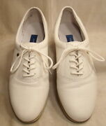 easy Spirit Anti-gravity Esmotion White Leather Lace Up Oxfords Size 7-2a / 4a