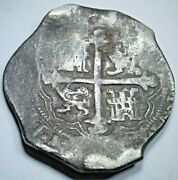 1618-1621 Mexico Silver 8 Reales 1600and039s Spanish Colonial Dollar Pirate Cob Coin
