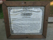 Antique 1900and039s U.s. Department Of Commerce Steamboat License In Glass Framed 12