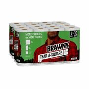 Brawny Tear-a-square Paper Towels 16 Double Rolls