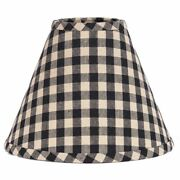 New Primitive Country Farmhouse Check Black And Tan Checked Lamp Shade Clip On 10