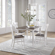 5 Piece Solid Maple Wood Dining Room Set   Full Kitchen Table Set With Table And