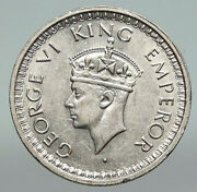 1943l India States Uk King George Vi Antique Silver 1/2 Rupee Indian Coin I91212
