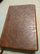 Nasb Open Bible Brown Genuine Leather