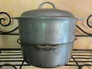 8 Griswold Cast Aluminum Dripping Tite-top Dutch Oven / Roaster + Steamer Lid