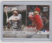 2018 Topps Shohei Ohtani And Babe Ruth Moment Of The Week Rookie Angels