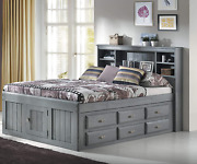 American Furniture Classics Captains Bed Charcoal Grey