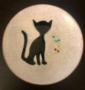4and039and039 Diameter Bovano Of Cheshire Collector Cat Plate - Excellent Condition