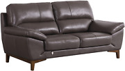 American Eagle Furniture Mid Century Modern Italian Leather Upholstered Pillow A