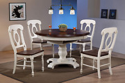 Sunset Trading Andrews Dining Set, Medium/two Size, Distressed Antique White/che