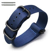 5 Ring Ballistic Army Military Navy Nylon Fabric Replacement Watch Band 3024