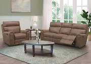 Abbyson Living 2-piece Fabric Upholstered Manual Reclining Sofa And Recliner Arm