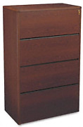 Hon N 10700 Series Four Drawer Lateral File 36w X 20d X 59 1/8h Mahogany