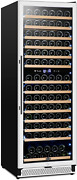 24 Inch Wine Fridge Dual Zone 154 Bottle Wine Cooler Refrigerator With Stainles