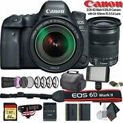 Canon Eos 6d Mark Ii Dslr Camera With 24-105mm F/3.5-5.6 Lens International
