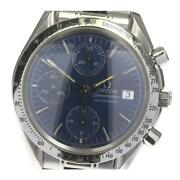 Omega Speedmaster Date Chronograph 3511.80 Automatic Menand039s From Japan [e0512]