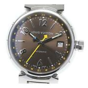 Louis Vuitton Tambour Q1131 Automatic Menand039s Brown Dial Ss From Japan [e0512]
