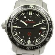 Sinn Date 603 Automatic Menand039s Date Black Dial Ss From Japan [e0512]