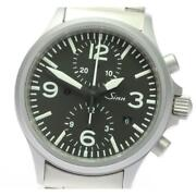 Sinn 756 Chronograph Date Automatic Menand039s Black Dial Date Ss From Japan [e0512]