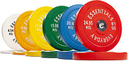 Balancefrom Everyday Essentials Color Coded Olympic Bumper Plate Weight Plate