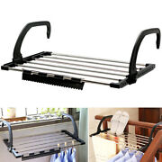 Folding Towel Drying Rack Stainless Steel Clothes Racks With Clip For Window