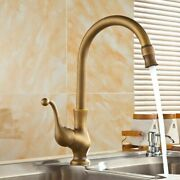 Kitchen Faucets Antique Bronze Faucet Mixer Tap Cold And Hot Rotatable Sink Tap