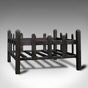 Antique Fireplace Grate, English, Cast Iron, Fire Basket, Late Victorian, C.1900