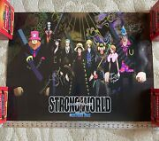 One Piece Anime Voice Actors Signed Autograph Poster Nami Robin Sanji Franky