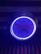 Coors Light Neon Wall Clock Lighted Beer Advertising Sign Working Clean 15 Inch
