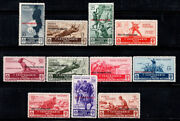Aegean 1934 Sass. 80-90 Mnh 100 Medals Of Military Value