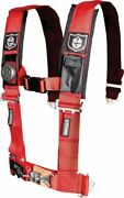 5 Point Seat Harness For Arctic Cat Prowler 700 Xtx 2009-2010 3 Pad Red