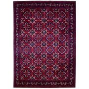 8'2x11'3 Hand Knotted Red Afghan Khamyab Extremely Durable Wool Rug G67701