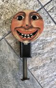 Vintage 1940s Smiling Moon Face Sparkler Tin Litho Spinning Friction Toy