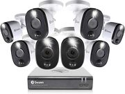Swann Home Security Camera System 8 Channel 8 Bullet Cameras Indoor/outdoor New
