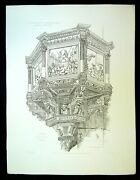 Antique Engraving - Flesh Of Ste Cross In Florence And Machine You've Got The Love