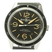 Bell And Ross Vintage Br123-92 Sports Heritage Date Automatic Menand039s Black [e0513]