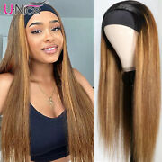 Unice Cambodian Headband Wigs Ombre Blonde Human Hair Head Band Wig 150 Density