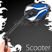 Vawik Rearview Mirror Viperii Blue Emark 8mm 1.25 Pitch For Scooter Moped Atv Andepsilon