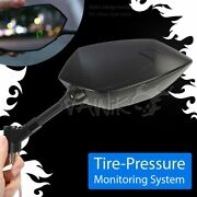 Vawik Mirrors With Tire Pressure Real Time Monitor Fits Harley Street 750 2015