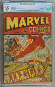 Marvel Mystery Comics 36 Cbcs 4.0 Ow/wh Pages Conserved // Statue Of Liberty