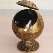 Cool Globe Shaped Ashtray Exquisite Smoking Holder Ash Tray With Lid Cigar Gift
